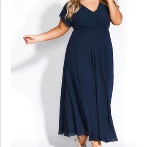 City Chic Sweet Wishes Maxi Navy